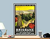 """Poster """"A Winter Holiday in the Sun, Brisbane"""","""