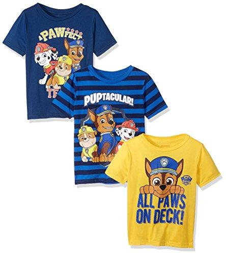 Nickelodeon Paw Patrol – Juego de 3 Camisetas para niños, Amarillo/Azul, 5