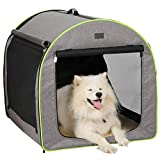 """35""""L x29""""W x30""""H, Folded Size(Carrying Case): 38.2""""L x29.9""""W x2.5""""thick. Door: 21.5""""L x23""""H & 29.5""""L x20.5""""H. Window: 30""""L x19.5""""H. Pocket: 11.5""""L x14.5""""H. Suitable for large-size dogs, providing more room for them to play and rest with no weight lim..."""