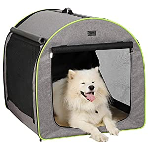 """Petsfit 35""""x29""""x30""""(LxWxH) Inches Large Soft Portable Dog Crate/Cat Crate/Foldable Pet Kennel/Indoor Outdoor Pet Home for Large Dogs"""
