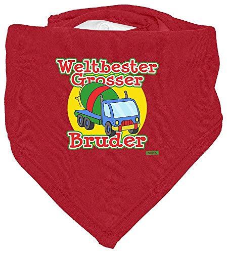 Hariz - Pañuelo de cuello para bebé, diseño de cigüeña con texto en alemán