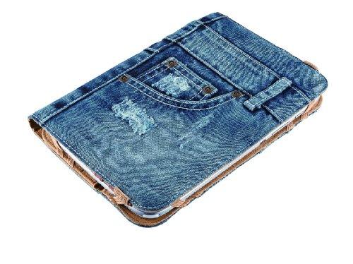 Trust Universal Jeans Folio Stand 17,8 cm (7 Zoll) bis 20,3 cm (8 Zoll) für Tablet blau