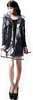 City Block Bearcat Transparent with Colorful Edge Fashion Raincoat