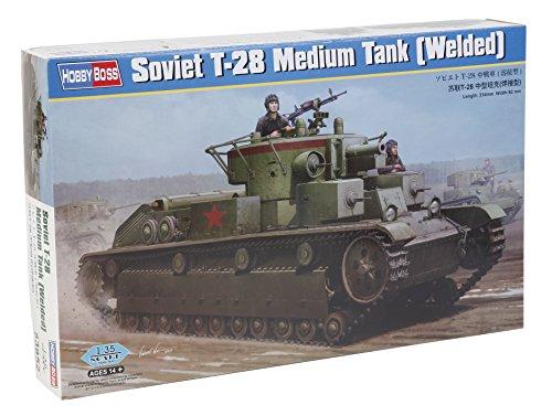 Hobby Boss 83852 – Modèle Kit Soviet T 28 Medium Réservoir Welded