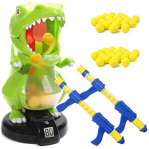 Dinosaur Toys Shooting Games for Kids, Shooter Toys Target Practice with LCD Score Record, 48 Foam...