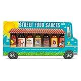 Modern Gourmet Foods, Set de regalo Salsas 'Street Food', 45 gramos en cada bote, Set de 7