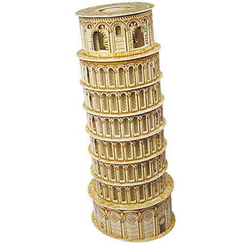 Cubic Fun MC053H - 3D Puzzle La Torre di Pisa Italia, 12x12x30 cm