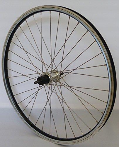 26 Zoll Fahrrad Laufrad Hinterrad Reflex Hohlkammerfelge schwarz Shimano TX800 Vollachse Silber NIRO Silber