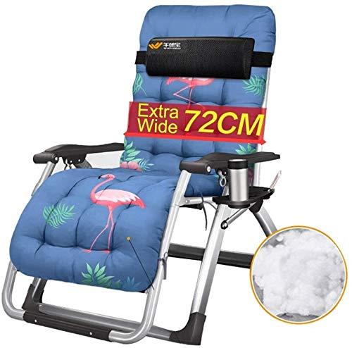 OESFL Al Aire Libre de Descanso de la Gravedad Cero Silla Acolchada reclinable - Ajustable Silla de salón con Soporte for la Copa Heavy Duty Personas, 200 kg Soporte (Color : Style 1)