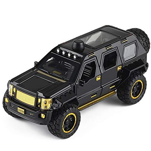 Xolye Legierung Shell Auto-Modell Großen Rad-Geländewagen-Spielzeug-Auto Sound and Light Pull Back-Spielzeug-Auto Metall Anti-Sturz Boy Toy Car 6 Tür offen Explosionsgeschützte Auto