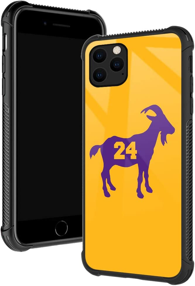 iPhone 11 Pro Case,Basketball 24 Goat iPhone 11 Pro Cases for Boys/Men,Fashoin Design Four Corners Shock Absorption Non-Slip Stripe Soft TPU Bumper Frame Case for iPhone 11 Pro 5.8 inch Yellow Purple