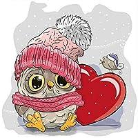 QMGLBG 5Dダイヤモンド塗装 最愛のフクロウの漫画の子供たちのダイヤモンド塗装芸術クリスタル刺繍工芸品30*40cm