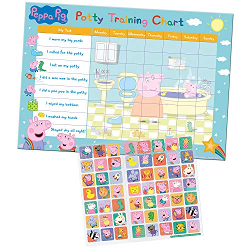 Paper Projects 01.70.30.022 Peppa Pig Potty and Toilet Training Reward Chart and Stickers
