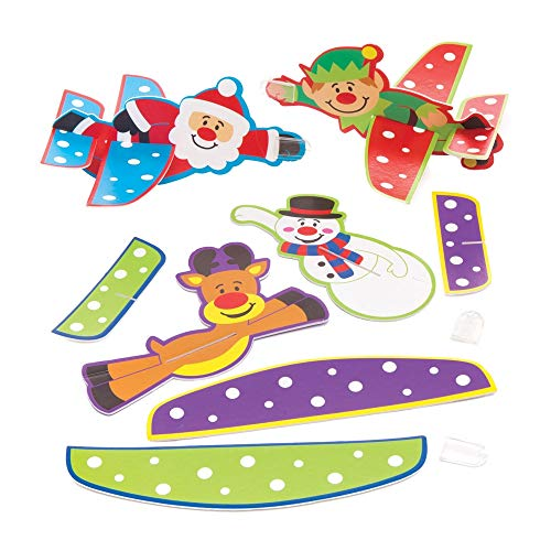 Baker Ross Planeurs festifs (Paquet de 8) - Loisirs créatifs et Jouets de Noël pour Enfants