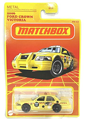 Matchbox Retro Series Wave2 2006 F0rd Crown Victoria 10/12 (Yellow)