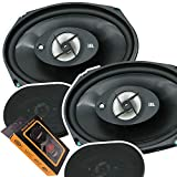 2 Pairs of JBL Stage 9603H 6x9 300W Coaxial Car Audio Loudspeaker with Power Handling - 70W RMS, 300W Peak/Frequency Response: 45Hz – 20kHz and Gravity Magnet Phone Holder Bundle