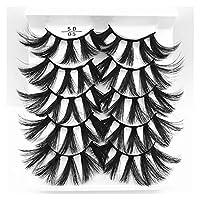 5ペア3Dフェイックスミンクヘア自然長いソフト手作りの偽まつげウィスピーフリッフドラマまつげの残酷な無料の黒いまつげ高シミュレーション自然赤ちゃん曲げ (色 : 5D05)