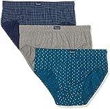Abanderado AS00080, Slip para Hombre, Azul (Azul Estampado), L (Tamaño del fabricante:EG/56)(Pack de 3)
