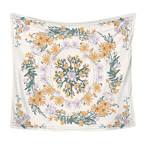 Tapiz bohemio retro Flor de luna Tapiz de moda Dormitorio familiar Decoración Paño de pared Paño de fondo a21 130x150cm