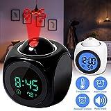 ZURU BUNCH Plastic LCD Talking Digital Alarm Clock with Projector Time Display Watch