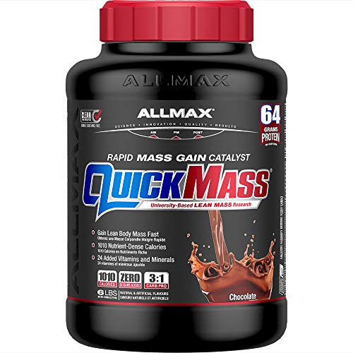 ALLMAX Nutrition - QUICKMASS - Weight Gainer & Rapid Gain Catalyst, Chocolate, 6 Pound, 6 Lb