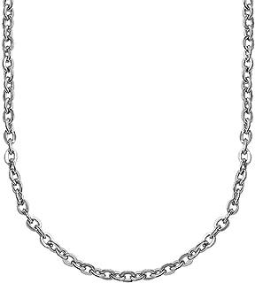 55 cm 50 Länge 45 ADAMO Edelstahl-Halskette Herren Ankerkette matt 3,8 mm