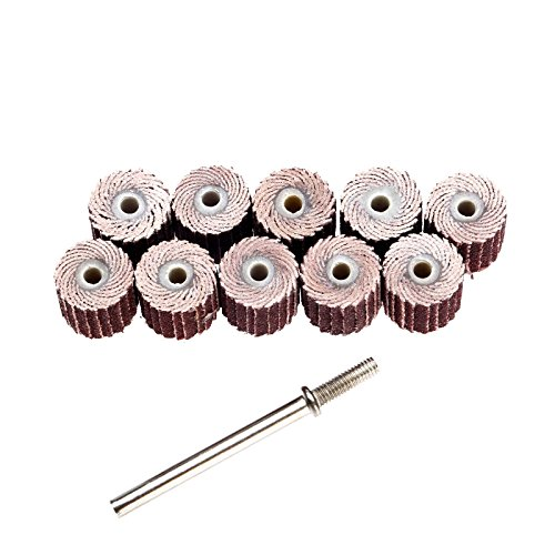 10Pcs 10mm Schmirgelpapier Schleifen Lamellenschleifrad Rad f¨¹r Dremel Werkzeug 240# Grit 3/8