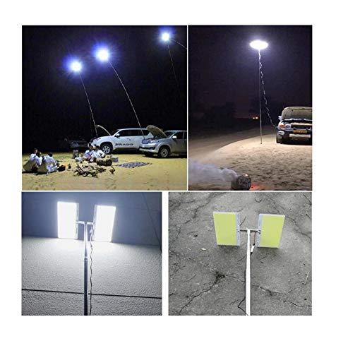 CMrtew Telescopic COB Rod LED Fishing Rod Outdoor Lantern Camping Light for Road Trip or Mobile Street Light Lamp Hiking BBQ