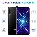 honor 9x smartphone, 4gb + 128gb cellulari, 6,59 schermo a piena vista, tripla ai fotocamera posteriore 48+8+2 mp, fotocamera anteriore 16 mp a comparsa automatica (nero)