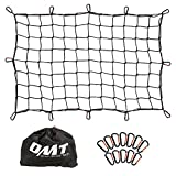 Orion Motor Tech Cargo Net Small, 3'x4' Roof Rack Net for SUV with 4'x4' Small Mesh, 6'x8' Max Size Cargo Netting with 12 Carabiners, Super Duty Cargo Net with Storage Bag (3 x 4 ft., Black)