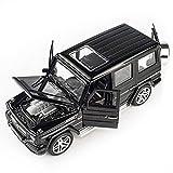 Modèle de voiture 1:32 Mercedes-Benz G-série CLASSE G modèle de voiture en alliage Simulation modèle de voiture Original série de voitures de sport bijoux 18x9x7CM modèle de voiture garçon fill,Noir
