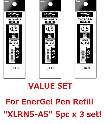 Bol/ígrafo de tinta de gel Pentel BLN115W-A color negro con punta de aguja, 12 unidades