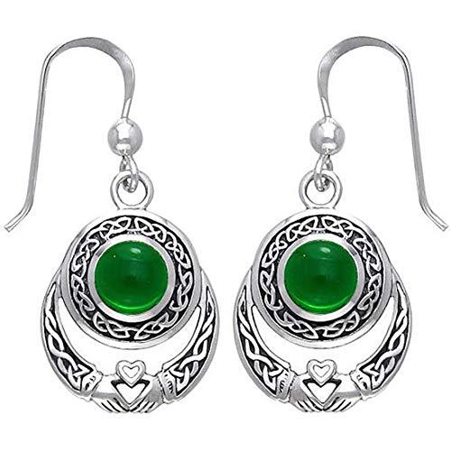 KWUNCCI Celtic Knot Claddagh Dangle Drop Earrings Sterling Silver Plated Irish Earrings for Women Girls