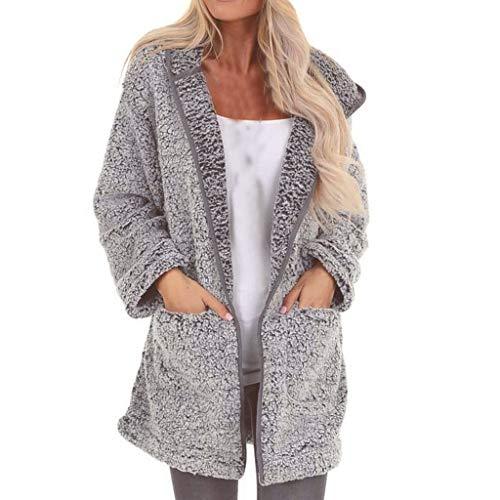 MINIKIMI Dames Winter Elegant lange winterjas met capuchon Warm stijlvolle trenchcoat pluizige jas oversize goedkoop pluche jack