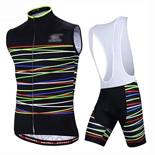 YXX Maillot Ciclismo Hombre Sin Mangas Camiseta Interior Camiseta Compresión Acolchado Culotes...