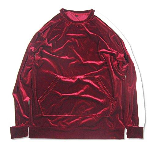 Sweatshirts Samt Oversized Hip Hop Herbst Streifen