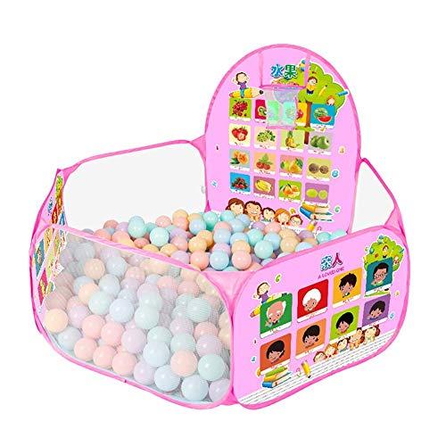 kaige Ozean-Ball Pool Kinderzelt Innen zusammenklappbarer Werfen Basketball Pool 1-2 Jahre alt Spielzeug-Haus-Baby-Fence 50 Bälle Baby-Zaun WKY