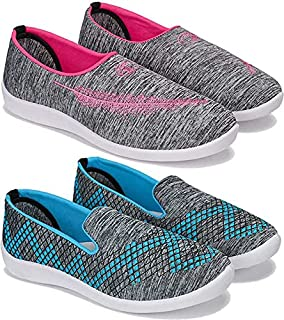 Shoefly Women's (5045-5046) Multicolor Casual Sports Running (Set of 2 Pair)
