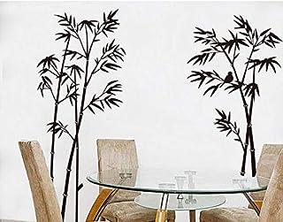 Black Bamboo Shaped Wall Sticker Mural Craft Art Home Livingroom Decor Vinyl Diy Decals