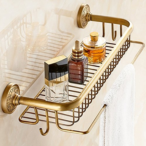 Racks de salle de bain rétro Tous les étagères en bronze de cosmétique Panier de rangement en une seule couche de style européen/salle de bains (taille : A)