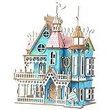 Rompecabezas De Madera Casa De Muñecas DIY Montaje Miniatura para Niñas Regalos Niños Rompecabezas Juguetes De Construcción De Modelos De Regalo Juego De Los Niños del Kit
