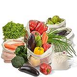 Reusable Mesh Produce Bags - Organic Cotton Eco Produce Bags Washable...