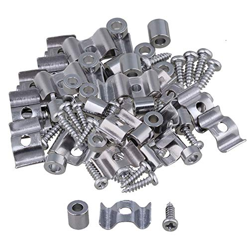lovermusic Lovermusic 40Pieces Guitar String Tree Guide Retainer with Spacer Screw Chrome