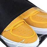 rismart 10 pièces Non-Tissé Cordon Sacs à Chaussures de Voyage Portable Housses Chaussures avec Fenêtre Visuelle (Noir,14