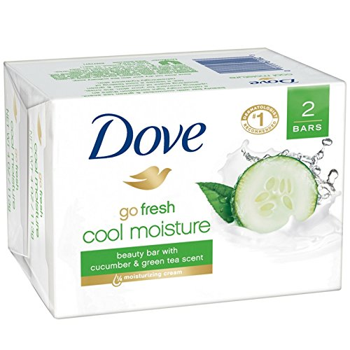 Dove go fresh Beauty Bar Cucumber and Green Tea 4 oz, 2 Bar
