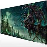 Blanche Lynd Large Gaming Mauspad XXL Mauspad Erweitertes Schreibtisch-Pad Rutschfeste Gummibasis Illidan Stormrage003