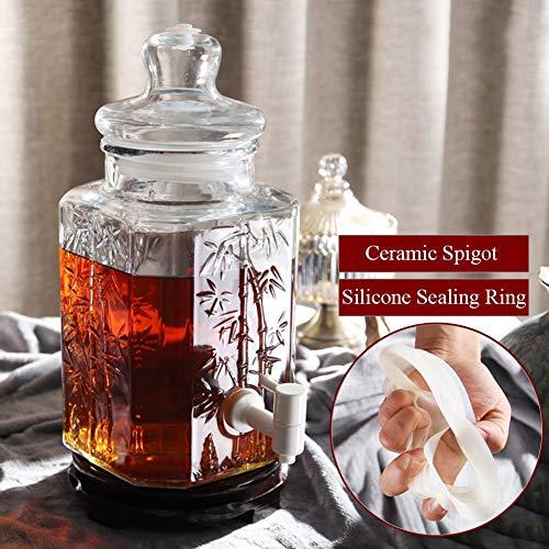 SWE Vintage Drink Dispenser, Mason Jar dispenser Bevanger met roestvrij stalen spigot, voor limonata/thee/water koud ~