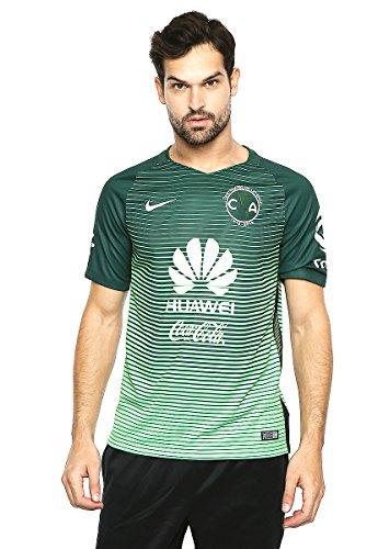 Nike Ca M SS 3RD Stadium JSY T-Shirt Club de Fútbol América S.A. für Herren, Grün (Gorge Green/Green Gusto/White), M