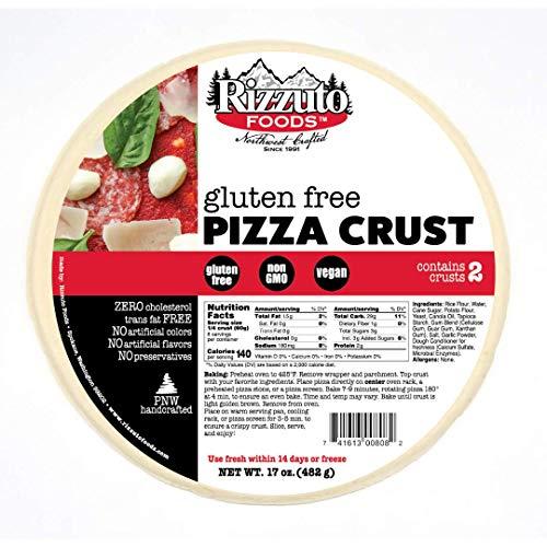Rizzuto's 10' Thin Gluten Free Pizza Crust - 2 Pack - 4 Crusts
