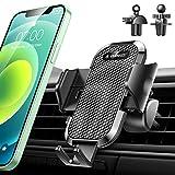 【安定性強化版/業界独創のクリップ2つ付き】車載ホルダー VANMASS スマホホルダー 車 スマホスタンド カー用品 ながら運転と対戦する 安定性満点 ワンタッチ自動開 片手操作 クリップ式 エアコン吹き出し口用 iPhone/Samsung/Sony/LG/Huawei などすべてのスマホに対応 (全ブラック)